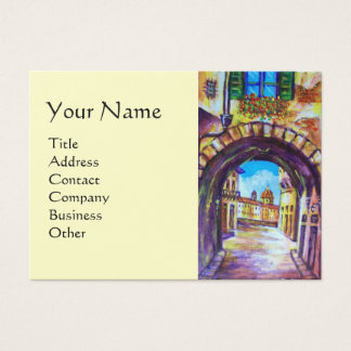 FLORENCE ANTIQUE ALLEY VIEW CHURCH CESTELLO Cream Business Card
