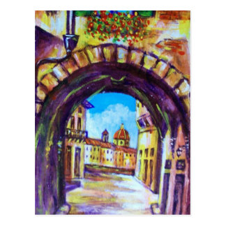 FLORENCE ANTIQUE ALLEY VIEW CHURCH CESTELLO POST CARDS