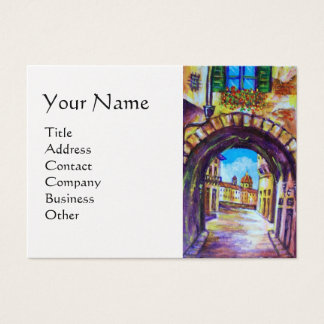 FLORENCE ANTIQUE ALLEY VIEW CHURCH CESTELLO White Business Card