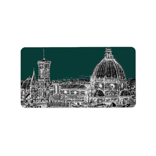 Florence architecture drawing address label
