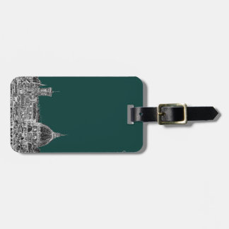 Florence architecture drawing bag tag