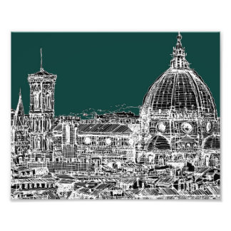 Florence architecture drawing photo art