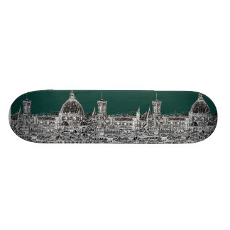 Florence architecture drawing skateboard deck