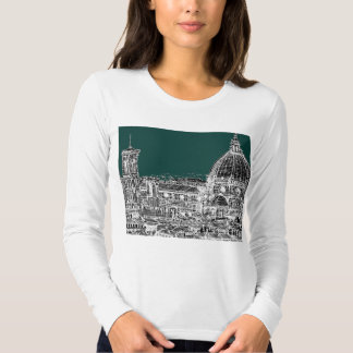 Florence architecture drawing T-Shirt