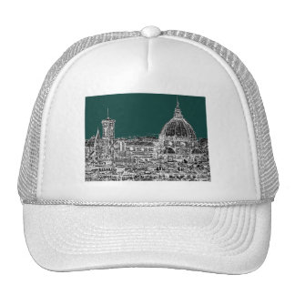 Florence architecture drawing trucker hat