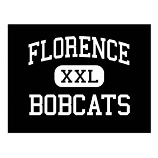 Florence - Bobcats - High - Florence Wisconsin Postcard