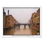 Florence Bridge With Love Quote Art Photo