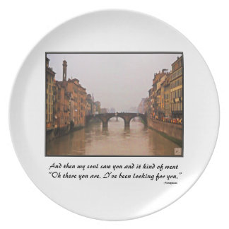Florence Bridge With Love Quote Party Plates