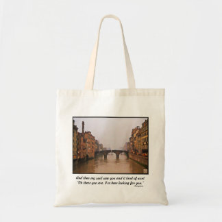 Florence Bridge With Love Quote Tote Bag