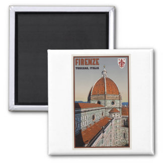 Florence - Cathedral from Bell Tower 2 Inch Square Magnet