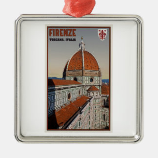 Florence - Cathedral from Bell Tower Metal Ornament