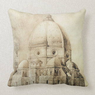 Florence Cathedral from the East, from 'Fragments Throw Pillow
