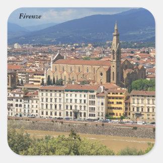 Florence church Santa Croche Square Sticker