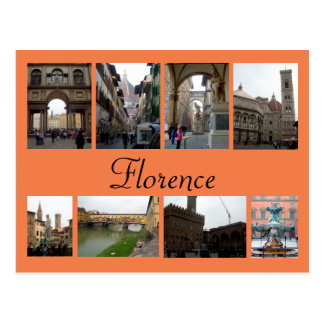 Florence Collage Postcard