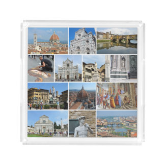 Florence collage square serving trays