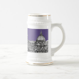 Florence dome in lilac beer stein