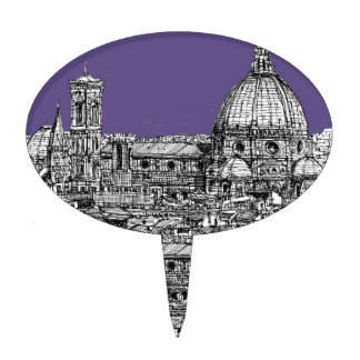 Florence dome in lilac cake topper
