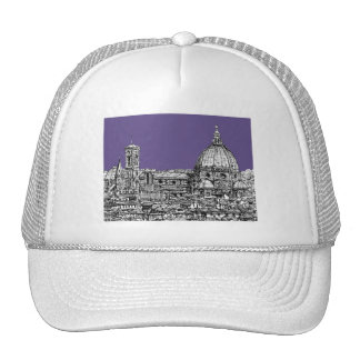 Florence dome in lilac trucker hat