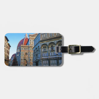 Florence Duomo Cathedral with Love Quote Bag Tag