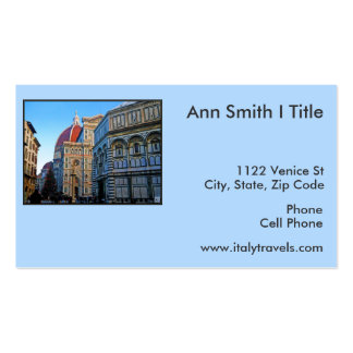 Florence Duomo Cathedral with Love Quote Business Card