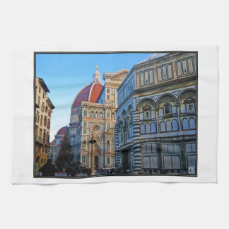 Florence Duomo Cathedral with Love Quote Hand Towel