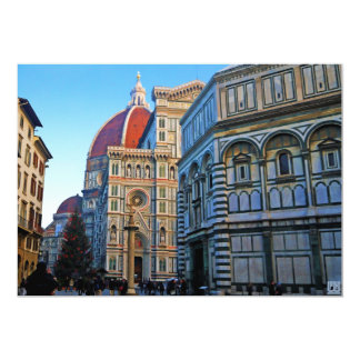 Florence Duomo Cathedral with Love Quote Custom Announcement
