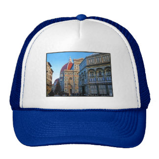 Florence Duomo Cathedral with Love Quote Trucker Hat