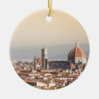 Florence Duomo Double-Sided Ceramic Round Christmas Ornament