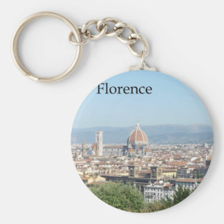 Florence Duomo from Michelangelo Square (new-St.K) Basic Round Button Keychain
