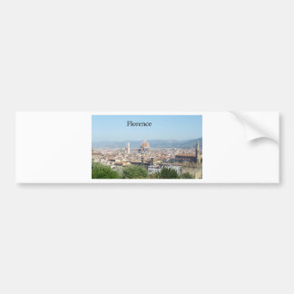 Florence Duomo from Michelangelo Square (new-St.K) Car Bumper Sticker