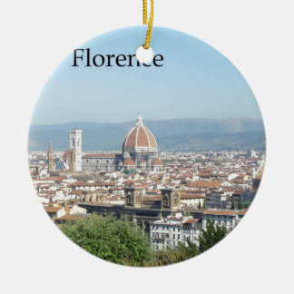Florence Duomo from Michelangelo Square (new-St.K) Double-Sided Ceramic Round Christmas Ornament
