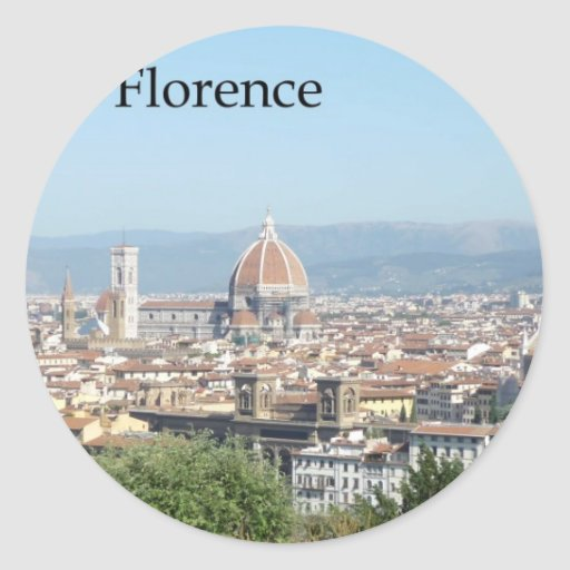Florence Duomo from Michelangelo Square (new-St.K) Classic Round Sticker