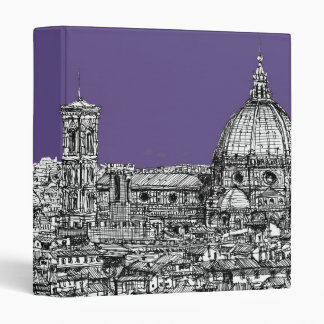 Florence duomo lilac purple 3 ring binder