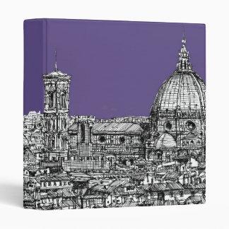 Florence duomo lilac purple 3 ring binder