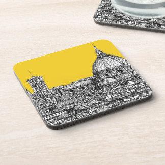 Florence duomo orange drink coaster