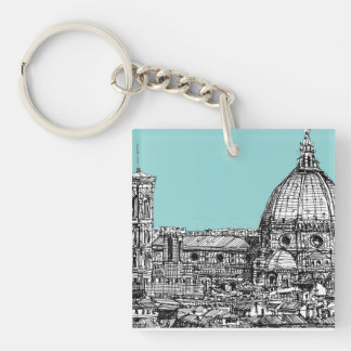 Florence duomo pale blue keychain