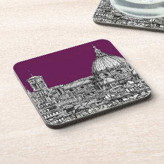 Florence duomo purple drink coaster