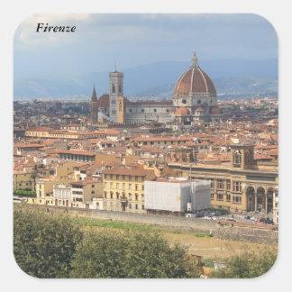 Florence Duomo Square Sticker