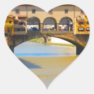 Florence -Firenze, Ponte vecchio Heart Sticker
