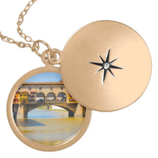 Florence -Firenze, Ponte vecchio Locket Necklace