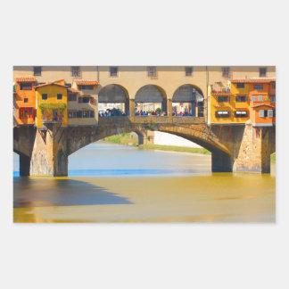 Florence -Firenze, Ponte vecchio Rectangular Sticker
