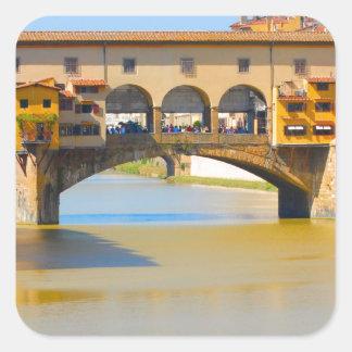 Florence -Firenze, Ponte vecchio Square Sticker