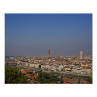 Florence from 'Piazzale Michelangelo' Poster