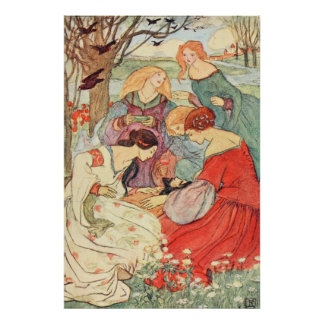 Florence Harrison - Prince and Maidens Poster