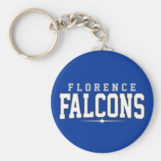 Florence High School; Falcons Basic Round Button Keychain