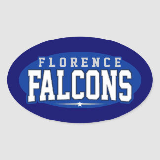 Florence High School; Falcons Oval Sticker