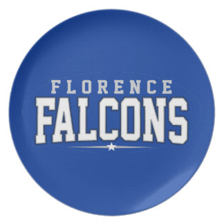 Florence High School; Falcons Party Plates