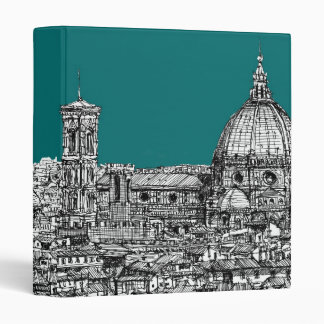 Florence in turquoise 3 ring binder