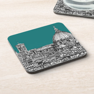 Florence in turquoise coaster