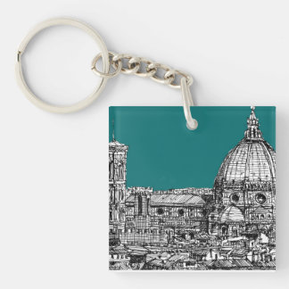 Florence in turquoise keychain